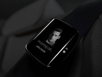 Konzept einer Samsung-Smartwatch mit Edge-Display.