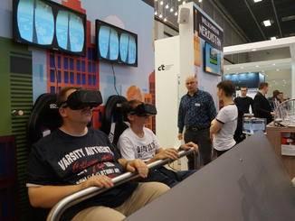 Auch Virtual Reality gehörte zu den großen Themen auf der Messe.