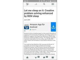In der Regel führt die App dann zu englischsprachigen Artikeln oder Studien.