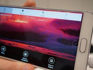 Franzi dufte mit dem Galaxy Note 5 ihre kreative Ader ausleben.