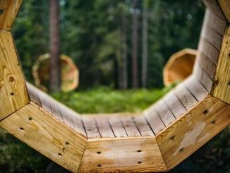 Riesen-Megafon in Estland.