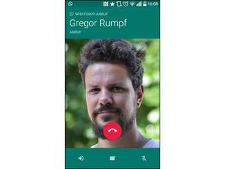 Unter Android funktioniert es auch über die Kontaktliste.