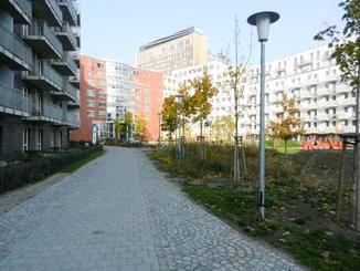 ... aber auch durch nette kleine Parks mit Herbstatmosphäre.