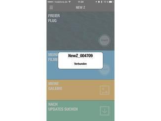 Einfach Bluetooth aktivieren, die Drohne einschalten und die App öffnen.