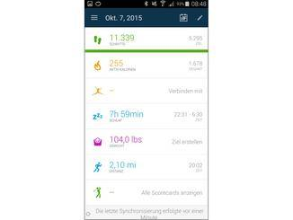 Die Synchronisierung erfolgt unmittelbar nach dem Start der Connect-App.
