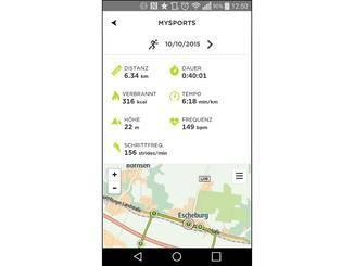 Die App listet alle Messdaten übersichtlich auf.