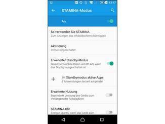 Der STAMINA-Modus beschneidet die App-Aktivitäten im Standby.