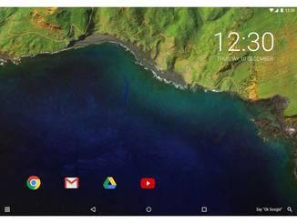 Android 7.0-Konzept auf einem Tablet.