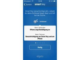Die Einrichtung des Smart Key funktioniert in Windeseile per App.
