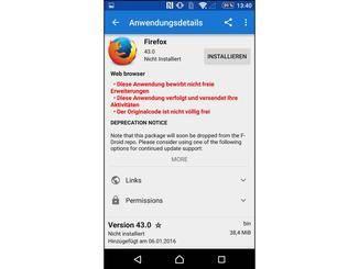 Als Webbrowser kommt beispielsweise Firefox infrage.