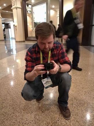 ... und fotografierte unter anderem seinen Kollegen Jens.