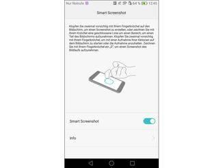 Auch Screenshots lassen sich flott per Knöchel-Geste erstellen.