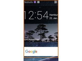 Das Huawei Mate 8 kann auch auf dem Home-Screen zoomen.
