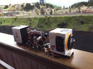 Mit diesem Mini-Bastel-Zug wurden viele der Street View-Aufnahmen gemacht.