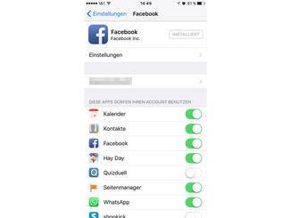 In den iOS-Einstellungen kann die Verbindung gekappt werden.