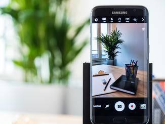 Die Kamera des Galaxy S7 löst mit 12 Megapixeln auf.