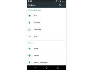 Im Vergleich: Android 6.0 Marshmallow...