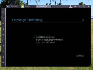 Bevor die erste App ausgeführt werden kann, muss die einmalige Einrichtung abgeschlossen werden.