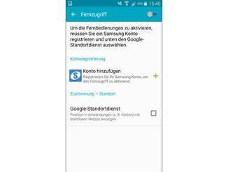 Dann kannst Du Dich mit Deinem Samsung-Konto anmelden...