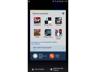 Dafür spendiert Samsung den Modellen einen Game Launcher.