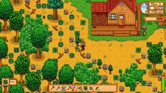 Auf der Farm kümmern wir uns um die Ernte und die Tiere.