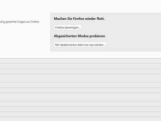 """Mit Klick auf """"Firefox bereinigen"""" startest Du den Säuberungsprozess."""