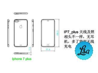 Angeblicher Bauplan des iPhone 7 Plus.