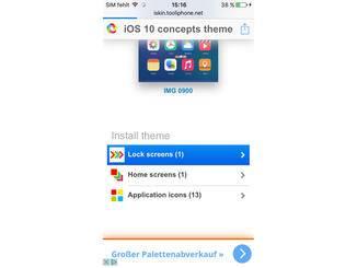 """Klicke dann auf """"Application icons""""."""