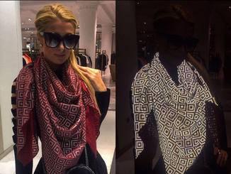 Paris Hilton mit dem ISHU-Schal.