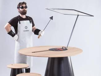 Solargrill? Mit Schutzbrille und Handschuhen und spezieller Schürze kein Problem.