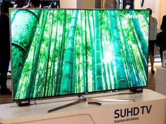 Samsung stellte natürlich seine SUHD-TVs vor.