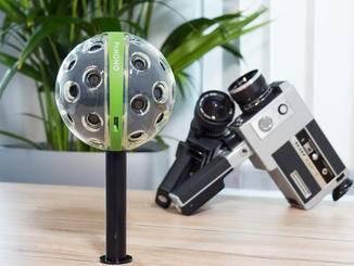 Optional erhältlich: ein Stativ-Adapter für die Panono-Cam.