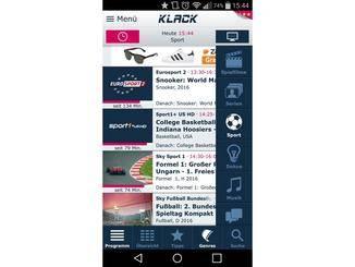 Klack ist ebenfalls eine recht simple Programm-App.