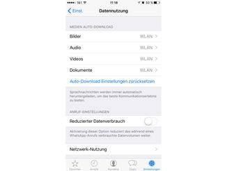Auto-Download deaktivieren und Datenverbrauch reduzieren.