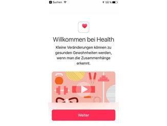 Auch Health wurde aufpoliert, der Organspende-Button fehlt hierzulande aber.