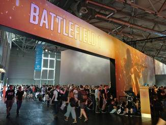 """Messe-Ansturm: Für eine Runde """"Battlefield 1"""" musste man bis zu 8 Stunden warten."""