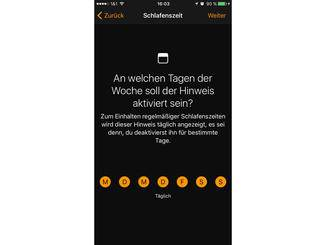 iOS 10 Schlafenszeit