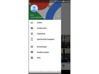 """In Google Fotos lässt sich der Shortcut unter """"Einstellungen"""" aktivieren."""
