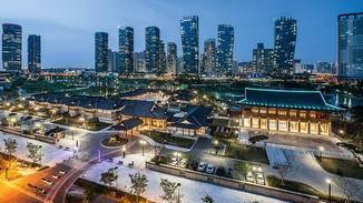 Musterstadt: Songdo, neuer Stadtteil von Incheon, liegt 40 Kilometer südwestlich von Seoul. Viele Aspekte einer vernetzten Stadt wurden hier bereits Wirklichkeit.