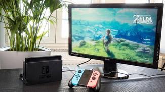 Die Nintendo Switch im TV-Modus.