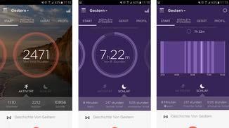 Die Misfit-App verteilt Punkte für Bewegung und Schlaf.