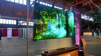 Dank OLED-Technologie liefert der Fernseher knackige Farben.