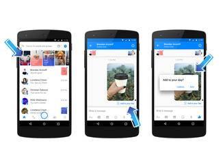 Fotos können auch direkt aus Chats in den Day-Status verschoben werden.