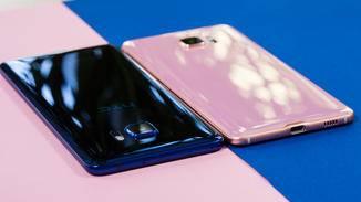 Das HTC U Ultra besticht mit seiner glänzenden Glas-Rückseite.