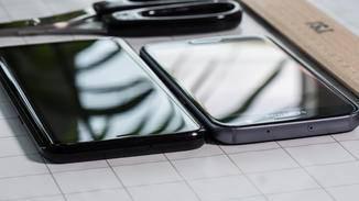 Im Vergleich zum Galaxy S7 wirkt das neue Modell schlanker, obwohl es das nicht ist.