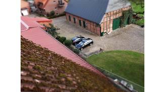 Der Miniatur-Effekt lässt Menschen, Häuser oder Autos ganz klein erscheinen.