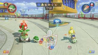 Ob Tabletop- oder TV-Modus: Mit den Joy-Con-Controllern der Switch kann es mit dem Multiplayer-Spaß direkt losgehen.