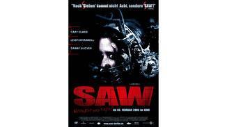 Plakat zum ersten Saw-Teil.