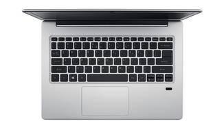 Im Gegensatz zum Swift 7 beleuchtet: Die Tastatur des Swift 1.