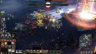Das Ziel: Das Zerstören des feindlichen Energiekerns, hier mit Hilfe des Orbitalbombardements der Space Marines.